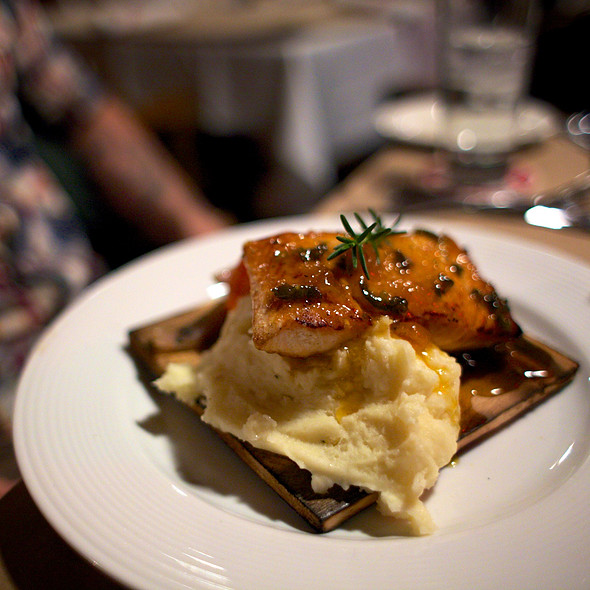 Cedar Plank Salmon with Jalapeno Apricot Jam @ Guy Fieri's American Kitchen And Bar