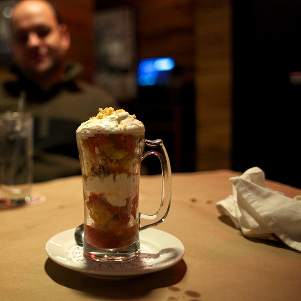 Salted Whiskey Caramel Fool @ Guy Fieri's American Kitchen And Bar
