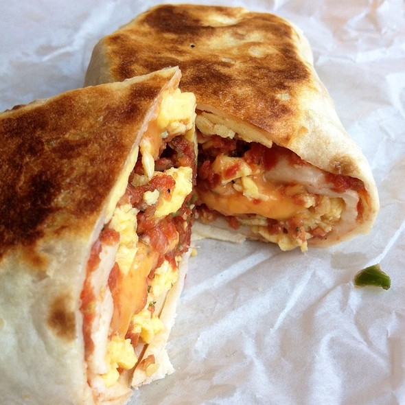 Egg And Cheese Breakfast Burrito @ Water Street Coffee Joint