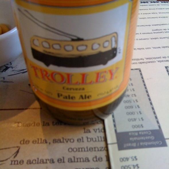 Cerveza Trolley Pale Ale @ Mosqueto Café