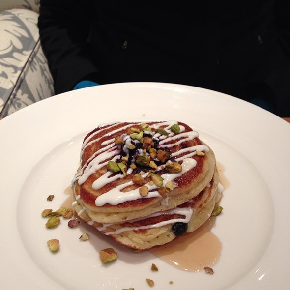 Blueberry Hotcakes With Toasted Pistachios