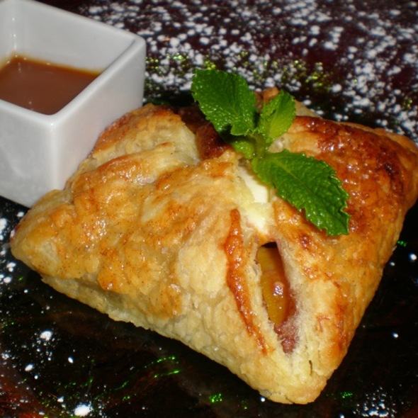 Peach Tart With Vanilla Ice Cream @ Sabore