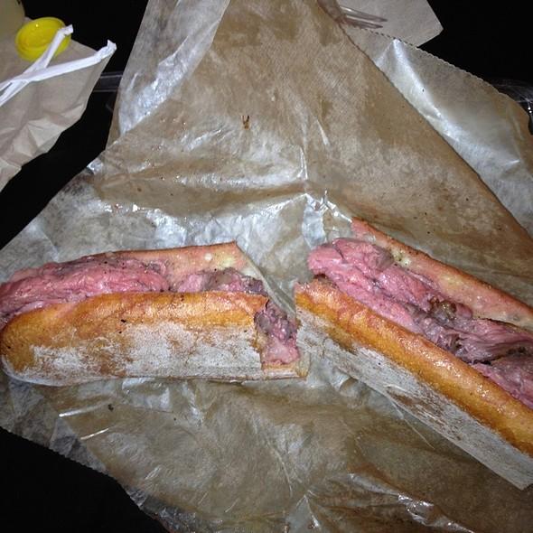 Porcini Rubbed Prime Rib Sandwich