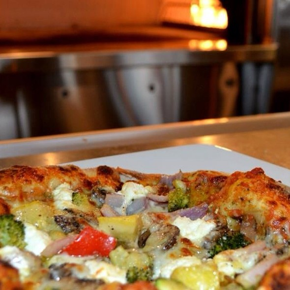 Farm Vegetables And Goat Cheese Pizza @ GreenFire