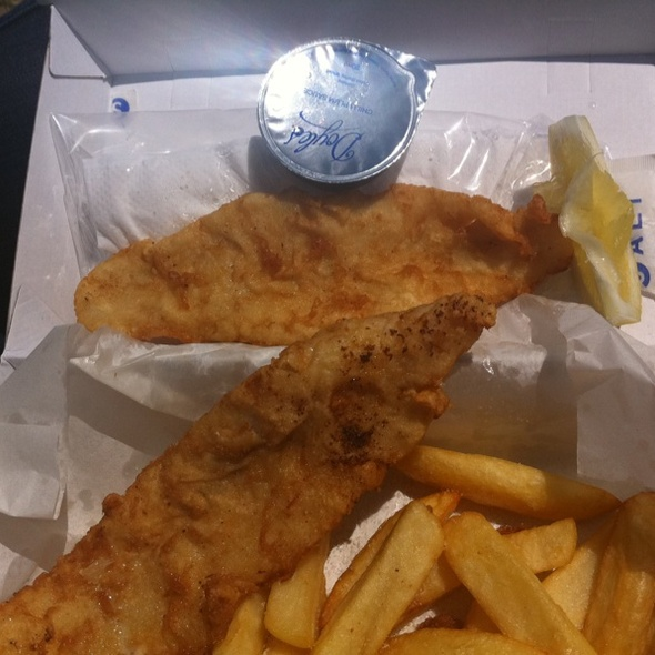 Fish and Chips @ Doyles on the Wharf  Restaurant