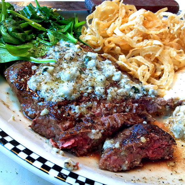 Flat Iron Steak with blue cheese butter @ Silver Diner