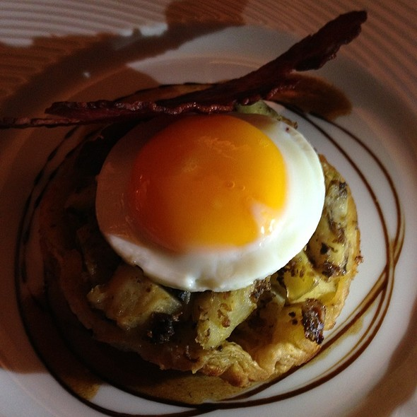 Artichoke Tart With Fried Egg @ Philippe Excoffier