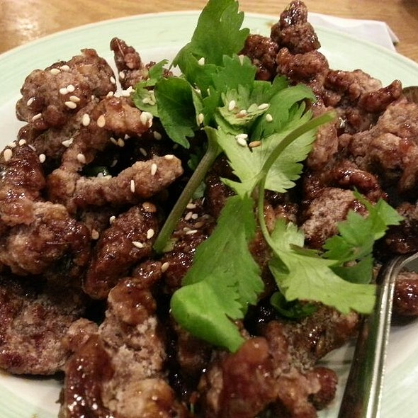 Pan Fried Beef @ Little Village Noodle House