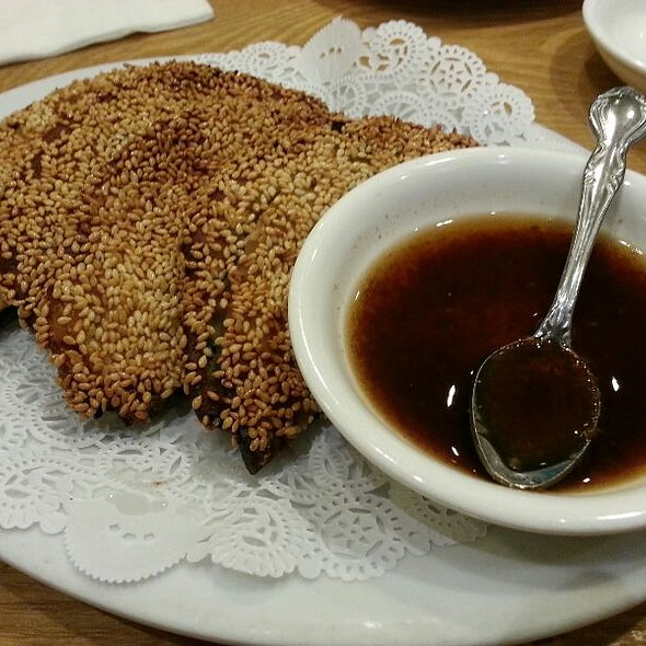 Sesame pancakes @ Little Village Noodle House