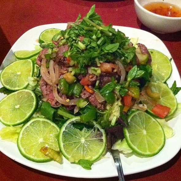 Lemongrass Beef Salad @ Que Huong Restaurant