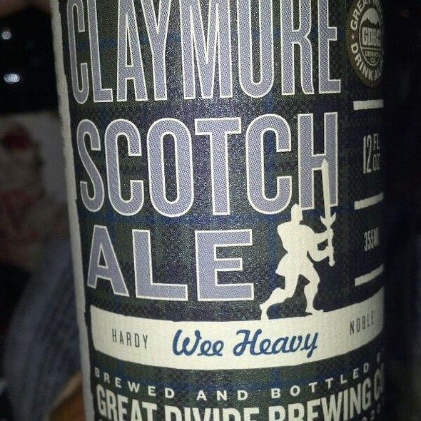 The Great Divide Claymore Scotch Ale @ Fox and the Hound