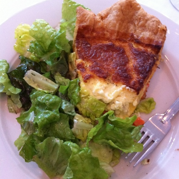 Goatcheese Quiche - Gramercy Bistro, North Adams, MA