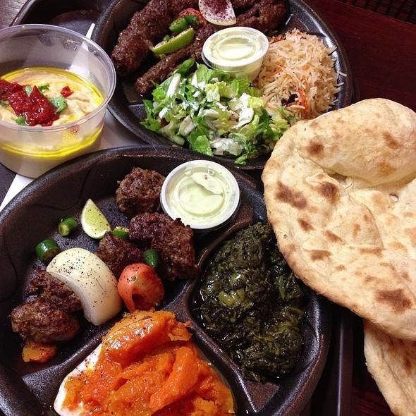 Beef Kofta (Top), Lamb Kabob (Bottom), Hummus (Left) @ Maiwand Kabob