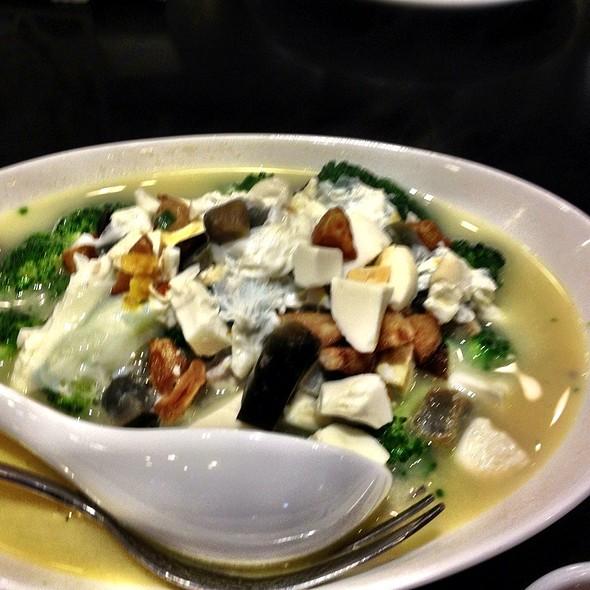 Veggie Broth With Egg @ Lugang Cafe