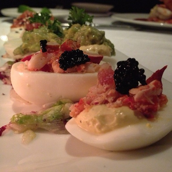 Caviar & Maine Lobster Deviled Egg - Nick & Sam's Steakhouse, Dallas, TX