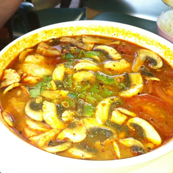 Tom Yum With Extra Mushrooms @ Old Shanghai