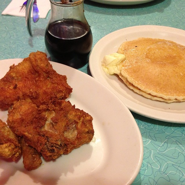Fried Chicken and Waffles @ Orphan Andy's Restaurant