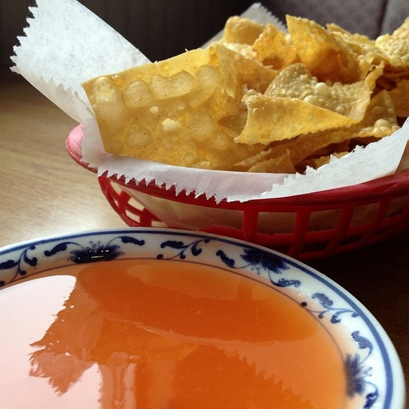 Fried Wonton Chips @ Panda Forest