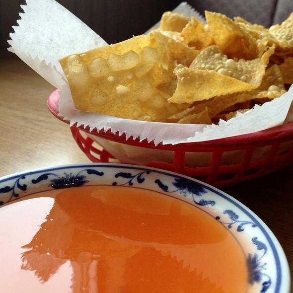 Fried Wonton Chips @ Panda Forest