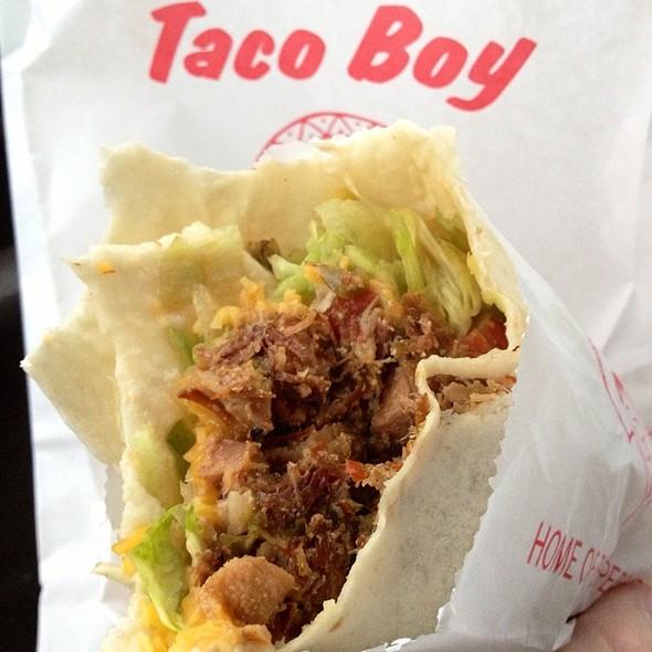 Green Meat Super Burrito @ Taco Boy
