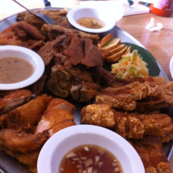 Crispy meat platter @ salo salo grill & restaurant