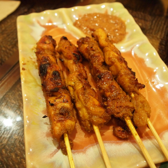 Chicken satay @ Banana Leaf (Greenbelt)