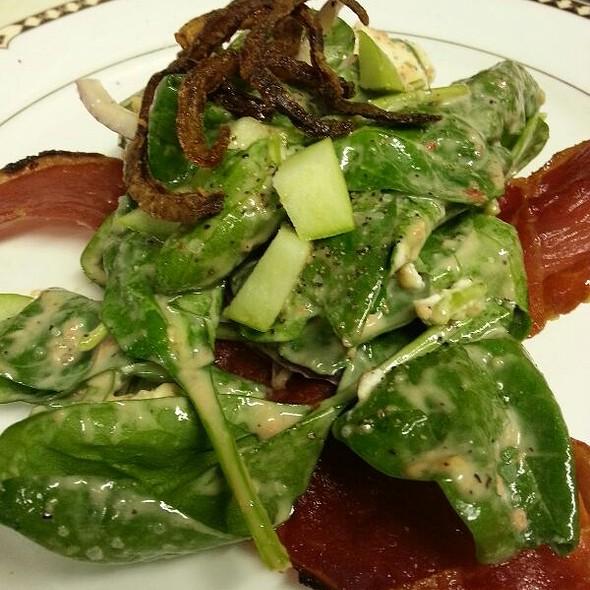 Spinach Salad With Prosciutto Jerky  @ La Dolce Vita