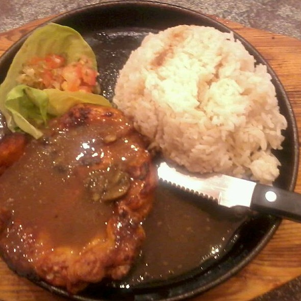 Chiken Stake and Rice