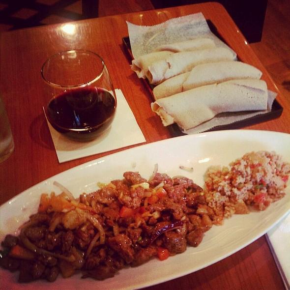 Ribeye Tibs With Tomato Fit-fit @ Desta Ethiopian Kitchen