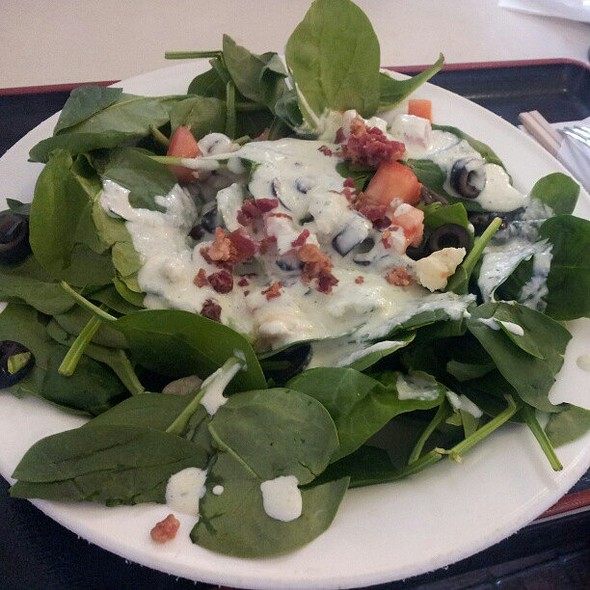 Spinach salad from the soup Nazi!