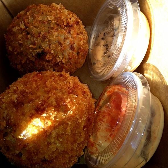 Flaming And Osaka Rice Balls @ Seoul Sausage Co