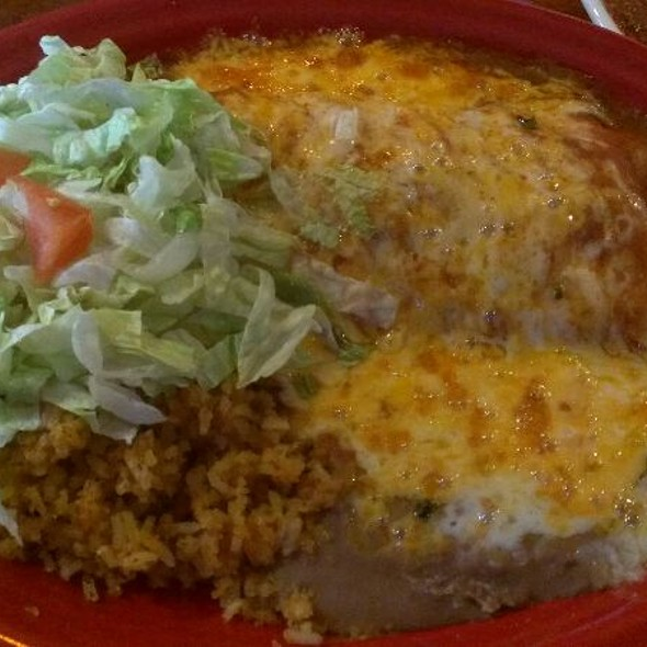 Red Burro Enchilada Style At Los Olivos Mexican Patio
