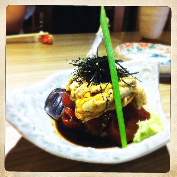 Marinated Tuna With Uni @ Mangetsu