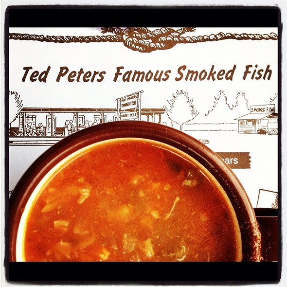 Manhattan Clam Chowder @ Ted Peter's Famous Smoked Fish