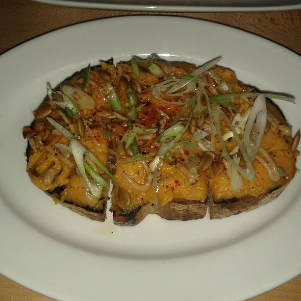 pumpkin & brown butter toast @ Vernick Food & Drink