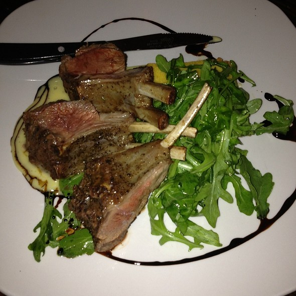 grilled Lamb Chop over quinoa - Michael's Tasting Room, St. Augustine, FL