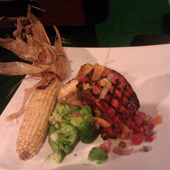 Double Pork Chop with Apricot Relish @ Tee Off Bar and Grill