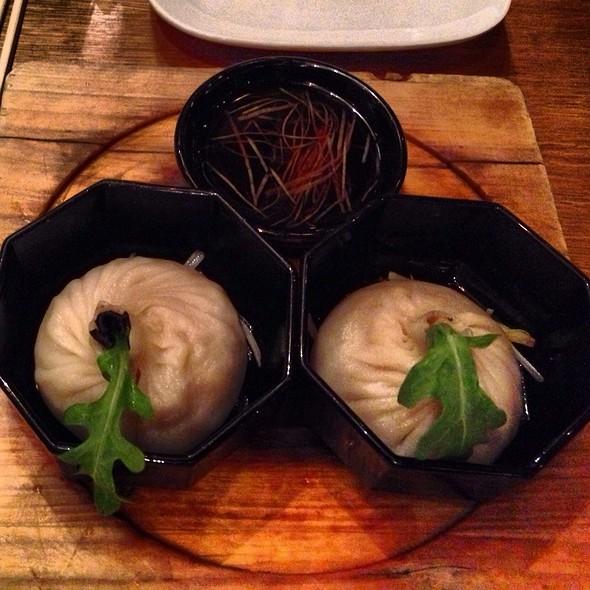 black truffle chicken soup dumplings. perfection. @ Red Farm