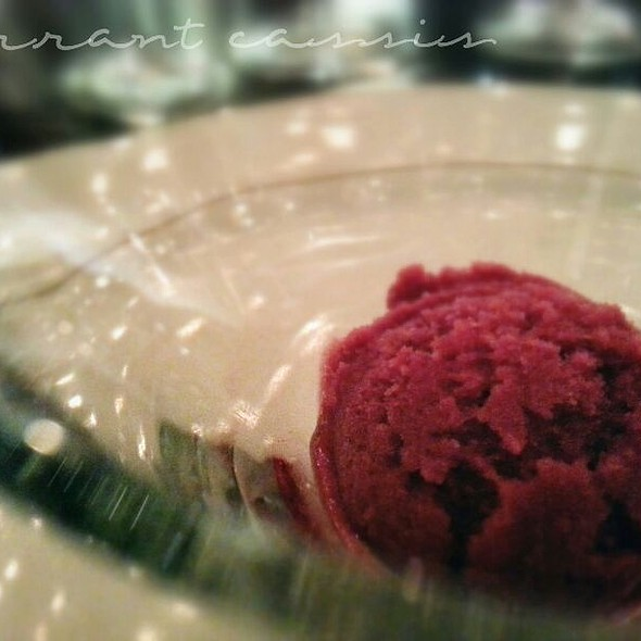 Currant Cassis Sorbet @ Hall Rutherford Winery