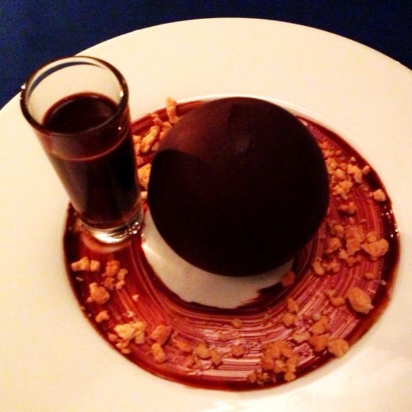 Pear Crumble With Hazelnut Butter In Chocolate Bubble @ Cap Juluca