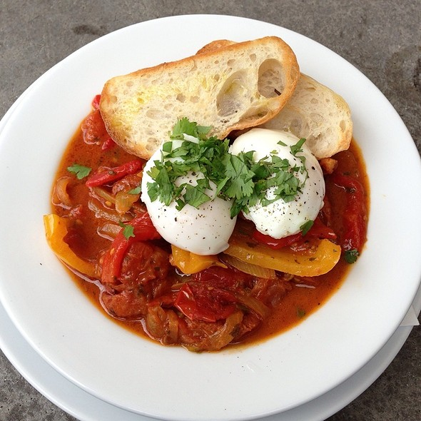 Shakshuka eggs @ Shore Road Cafe