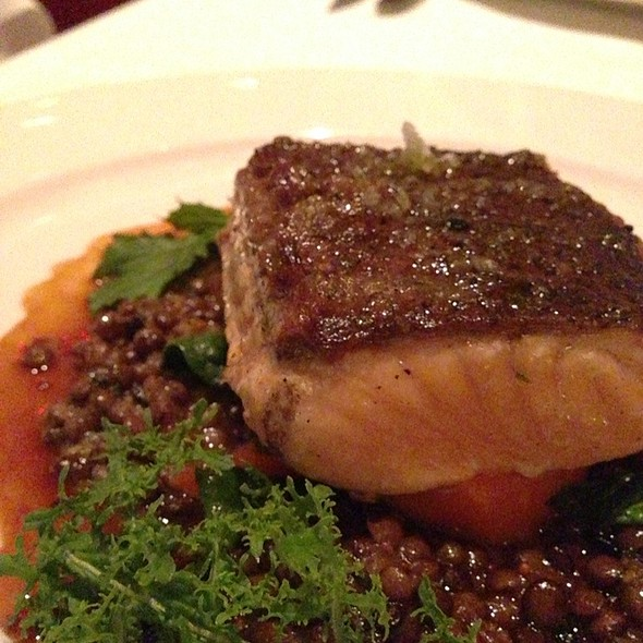 Grilled Scottish Salmon @ Cafe des Amis