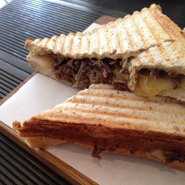 Beef Sanwich With Cheese, Onion & Mustard @ Kuppadeli