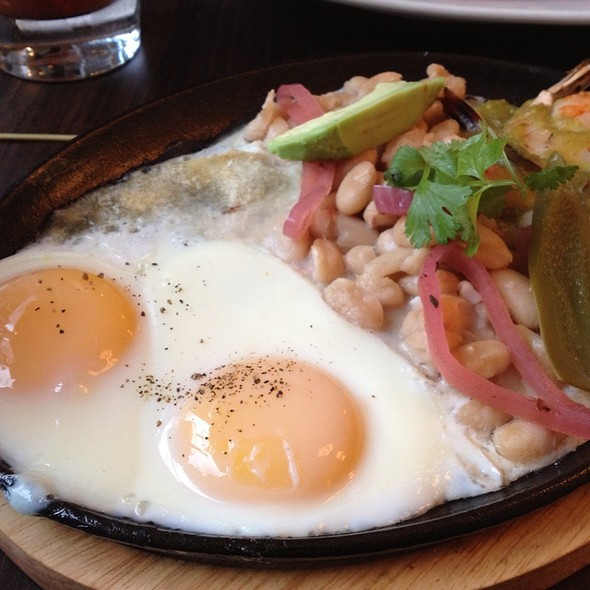 Mexican Shrimp With Eggs And White Beans @ Zoe