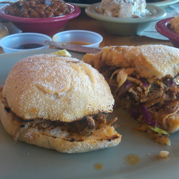 Pulled Pork Sandwich @ Roadside BBQ