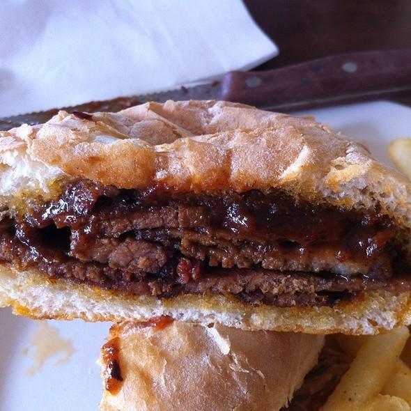 Brisket Sandwich Inside