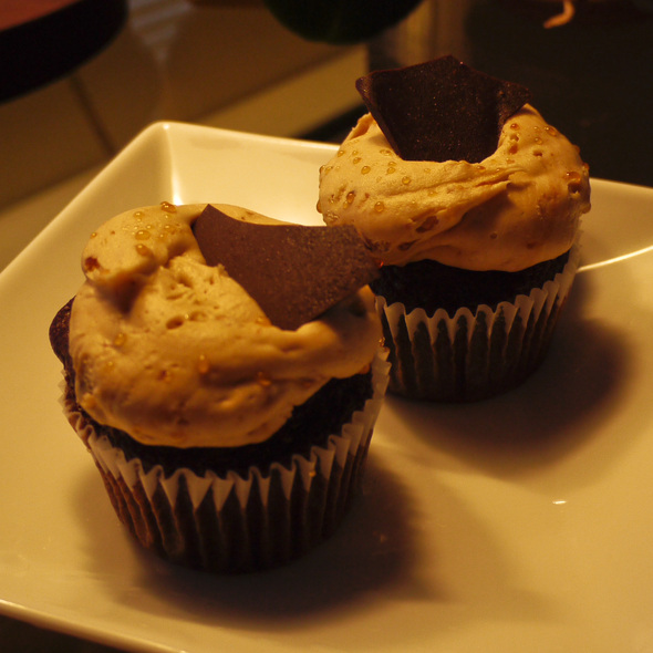 chocolate praline cupcakes @ Bi-Rite Market