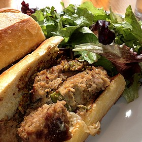 Duck And Prosciutto Meatloaf Sandwhich