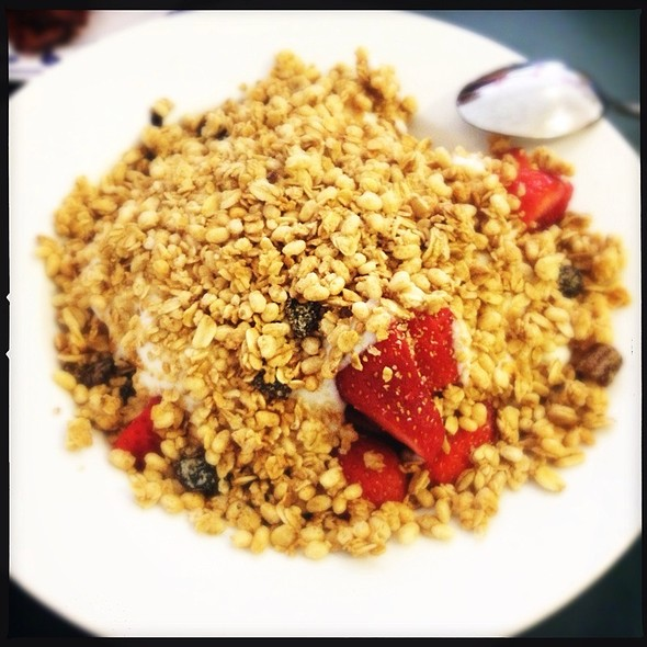 Yogurt Granola w/ Fruit @ Pork Store Cafe