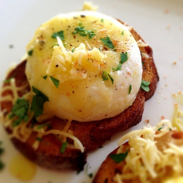 Poached Egg On Sourdough With Sage Goat Cheese @ Giddy Gastronaut Kitchen